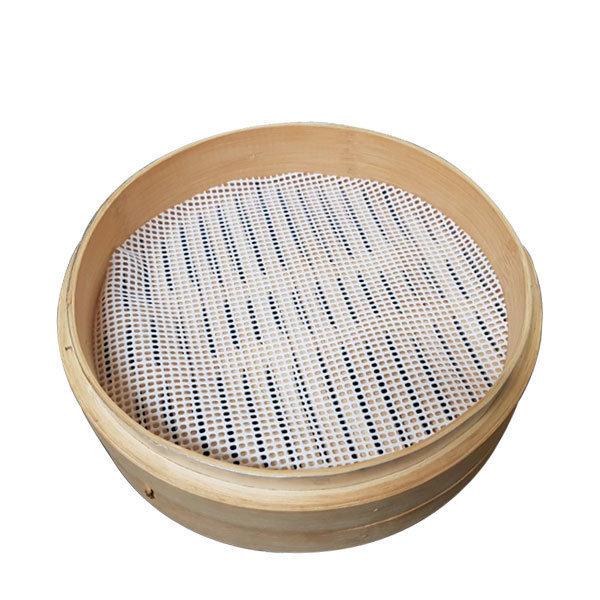 흰색 (홀3mm) 만두깔개 만두깔판 만두찜망 찜기깔개 상품이미지