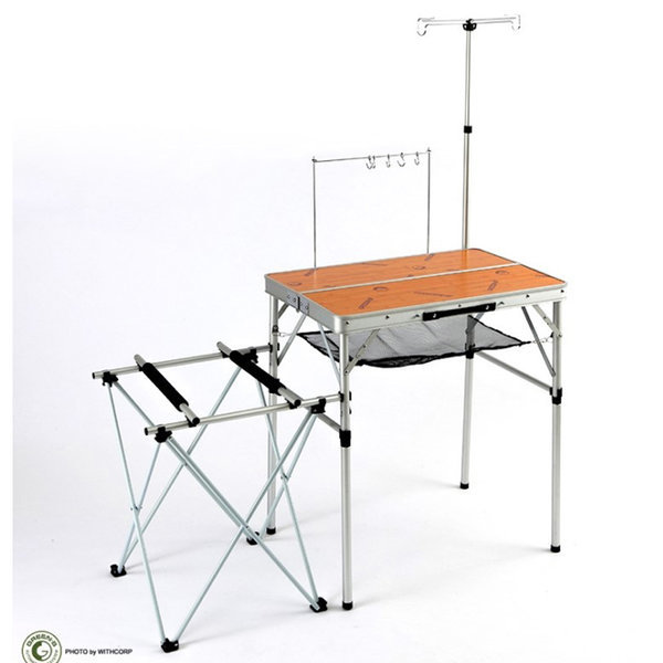 2 웨이 폴딩 키친 테이블 (S) / 접이식 야외 조리 용 상품이미지