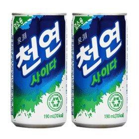 특가)천연사이다190mlX30캔/음료수/탄산