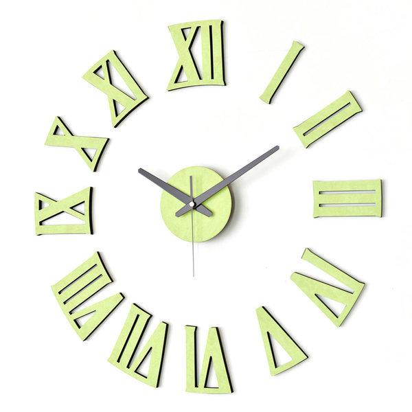 아미공 인테리어벽시계 붙이는시계 DIY로만 파스텔그린 상품이미지