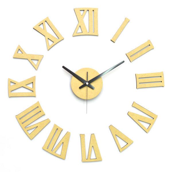 아미공 붙이는시계 인테리어시계 DIY 로만파스텔옐로우 상품이미지