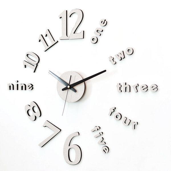 붙이는벽시계 인테리어벽시계 DIY 클래식 시크베이지 상품이미지