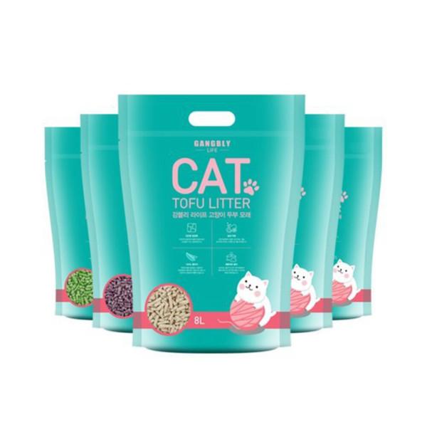 강블리라이프 고양이 두부 모래 8L X 6개 오리지널 상품이미지