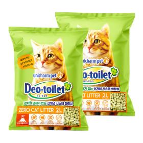 유니참 데오토일렛 고양이모래 소취향균 2L x 2팩