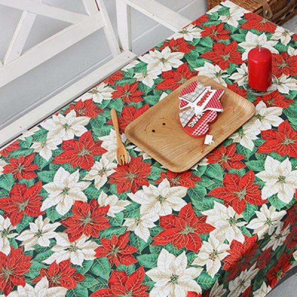 크리스마스 포인세티아 라미방수식탁보(6~10인) 상품이미지