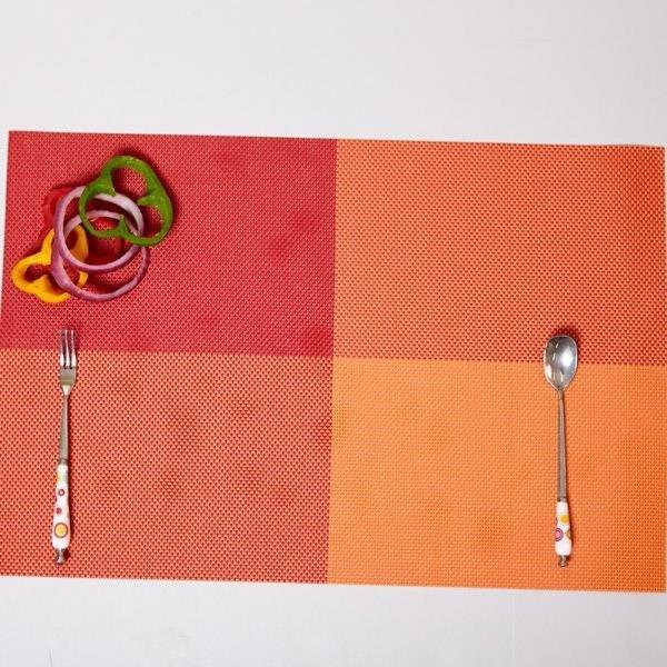 ABM(C) 고방 체크 식탁매트 오렌지 상품이미지