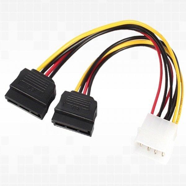 (K)IDE 4핀 to SATAx2 전원 케이블 상품이미지