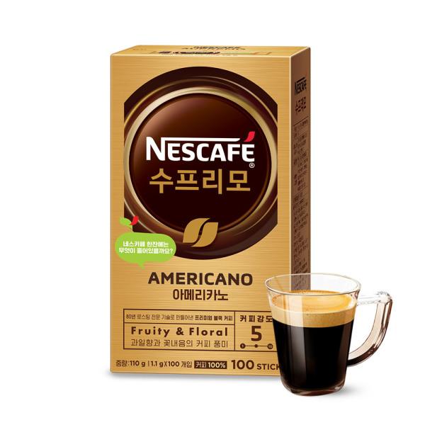 쿠폰가11480 수프리모 스윗아메리카노 100T/커피믹스 상품이미지