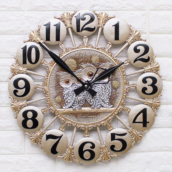 인테리어 벽시계 황실부엉이(특대)/무소음 벽걸이시계 상품이미지