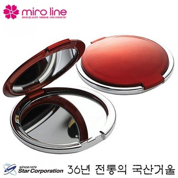국산 스타 미로라인 원형 손거울 67x9mm 컴팩트 휴대 상품이미지