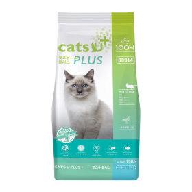 캣츠유 플러스 15kg 고양이 사료 길 먹이 냥이 샘플