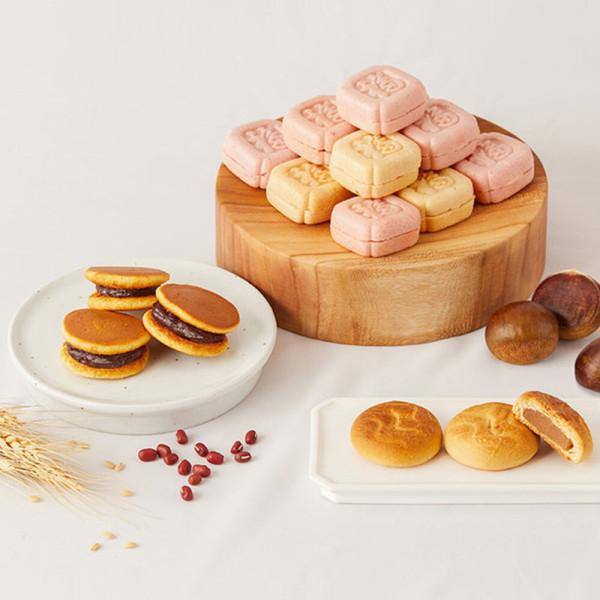 종합과자 모나카+그랑쉘+팬케이크 0.8kg 상품이미지