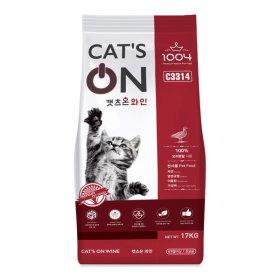 캣츠온 와인 17kg 고양이 사료 길 먹이 냥이 샘플