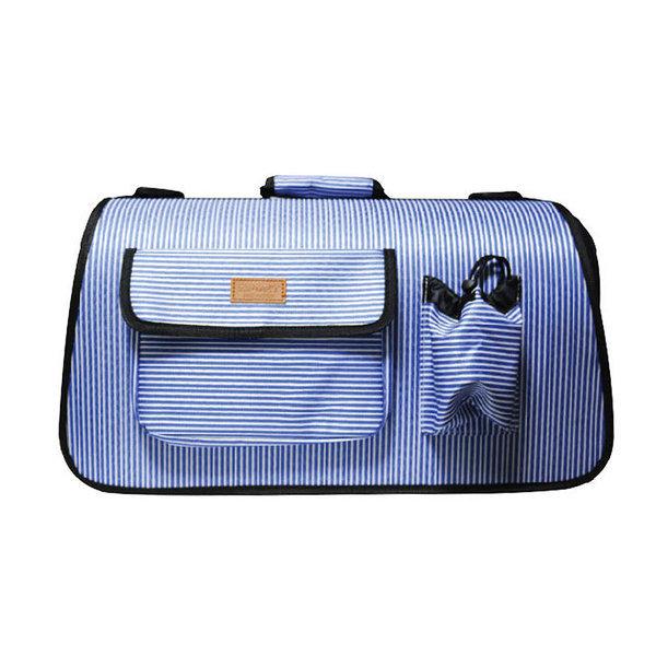 피플펫 애견가방 줄무늬 블루(대형) 강아지 이동가방 상품이미지