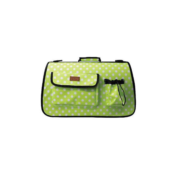 피플펫 애견가방 연두 땡땡이(중형) 강아지 이동가방 상품이미지