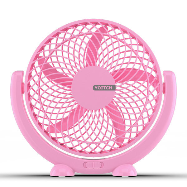 싸이클론 탁상용 사무실 미니 선풍기-핑크 상품이미지