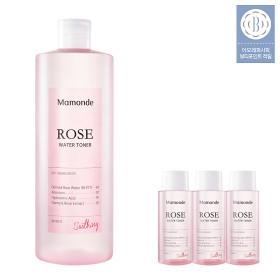 ROSE WATER TONER 500ml X2+Shopping bag+Facial cotton+Toner25mlX10