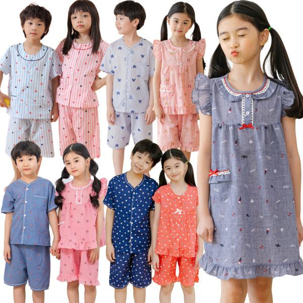 국내제작 여름 아동잠옷 세트/원피스잠옷/유아 파자마 상품이미지