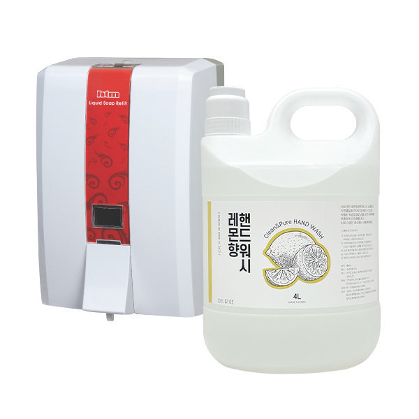 대용량 물비누 4리터 핸드워시 리필 레몬향/연이01 상품이미지