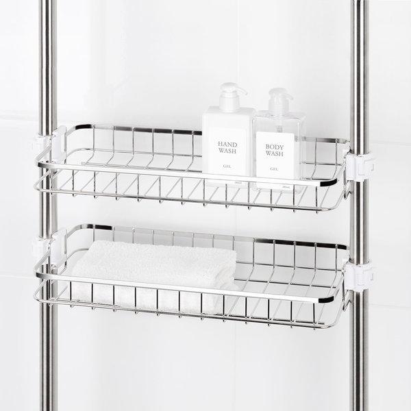 원터치 스텐 사각선반 400 4단 욕실 욕조 화장실선반 상품이미지