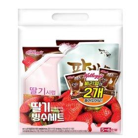 (묶음할인)대두식품 팥빙수세트 딸기  1840G
