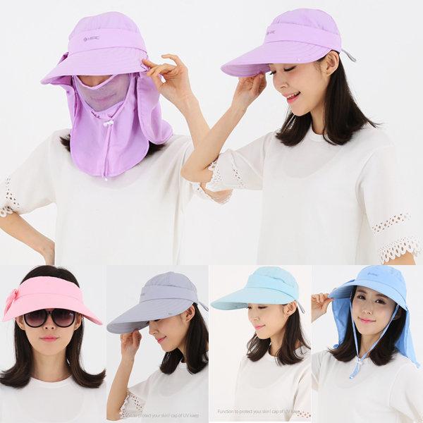 자외선차단 모자 썬캡 등산모자 여성 여름 마스크 상품이미지