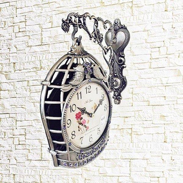 새장양면시계(그레이) 벽시계 시계 양면시계 집들이 상품이미지