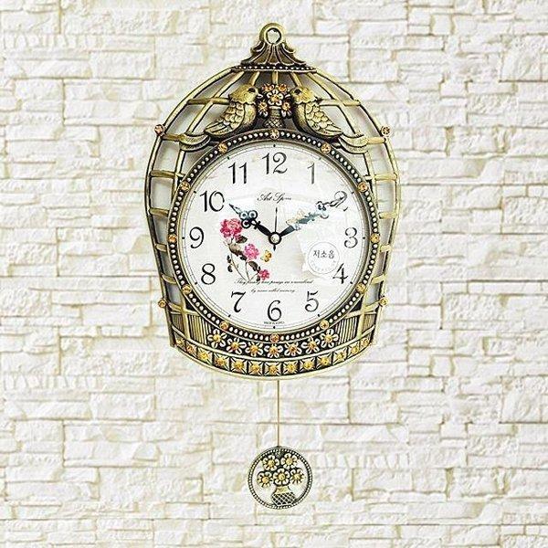 새장추시계(브라운) 벽시계 시계 단면시계 집들이 상품이미지