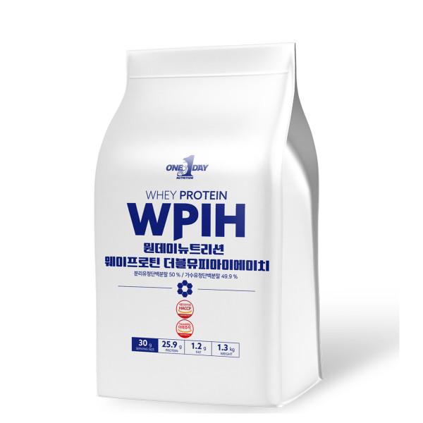 단백질 헬스보충제 프로틴 쉐이크 WPIH 포대유청 1.3kg 상품이미지