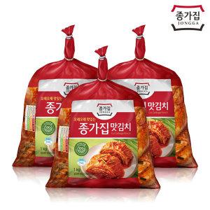 종가집 맛김치 3kg (1kg x 3) / 배추김치 / 공식판매처