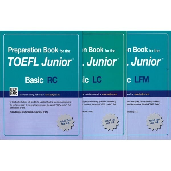 Preparation Book for the TOEFL Junior Test Basic Set (LC + LFM + RC)  편집부 상품이미지