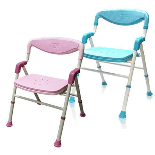 가하 접이식 목욕의자 FZK-188 (핑크) 환자용 이동식 상품이미지