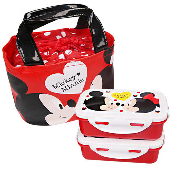 미키마우스 간편가방도시락2단 캐릭터 유아식기 상품이미지