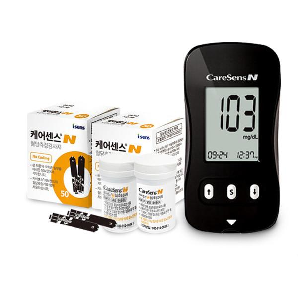 케어센스N 혈당측정기 풀세트/시험지110+침110+솜100 상품이미지