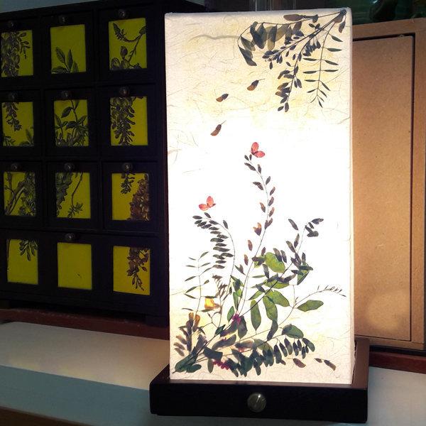 선물용스탠드/수공예한지스탠드 원목아카시아한지등/꽃 상품이미지
