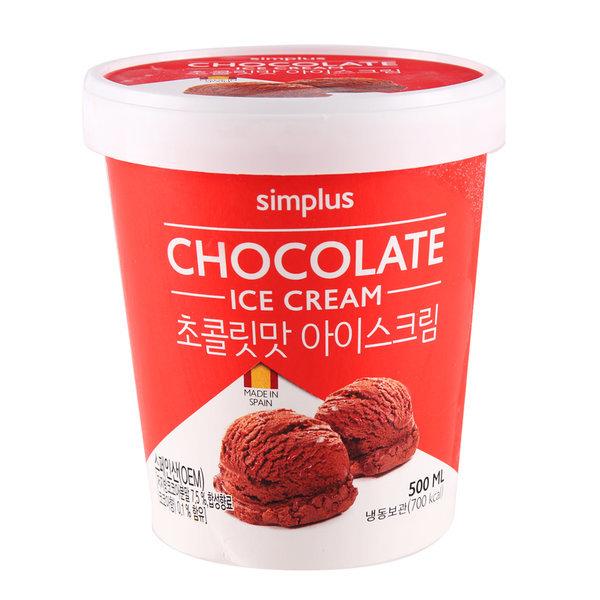 simplus 초코아이스크림 500ML 상품이미지