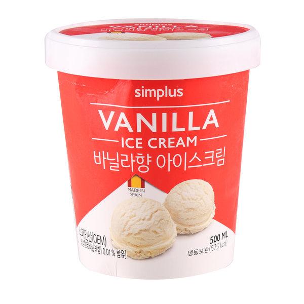 simplus 바닐라아이스크림 500ML 상품이미지