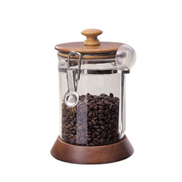 코맥 나무/아크릴 밀폐용기 750ml 커피/보관/용기 상품이미지