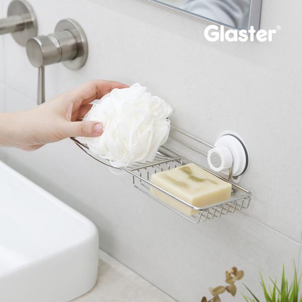 글라스터 2칸비누대/비누받침대/화장실선반/욕실용품 상품이미지