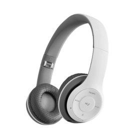 유선+무선 접이식블루투스헤드셋/FM라디오/MP3/화이트