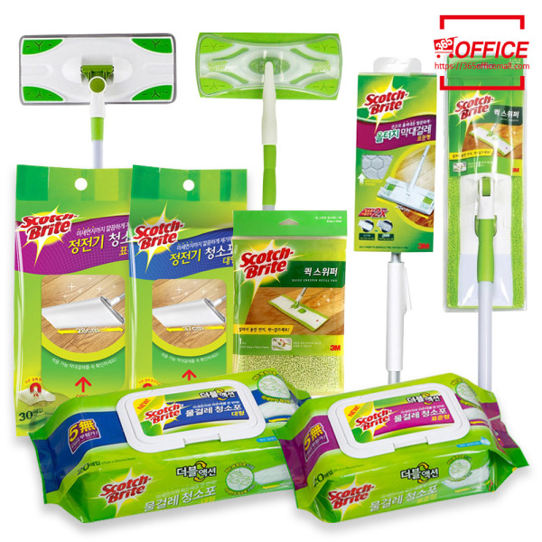 3M 청소용품 막대걸레+극세사청소포/정전기/리필/세트 상품이미지