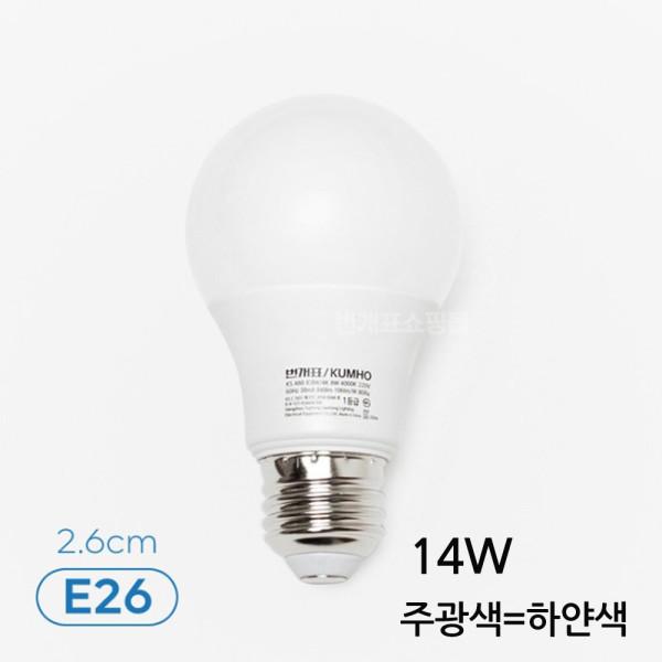 금호전기 LED전구 14W 궁금사항 전화 상담 후 구매가능 상품이미지