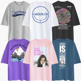 반팔티셔츠 면티남자남성 티셔츠 티 여름티  빅사이즈