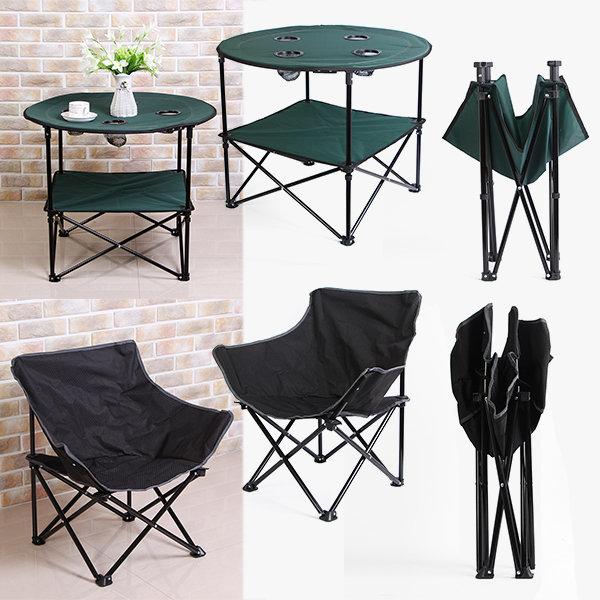 접이식 캠핑 테이블 / 컵홀더 야외 미니 식탁 의자 상품이미지