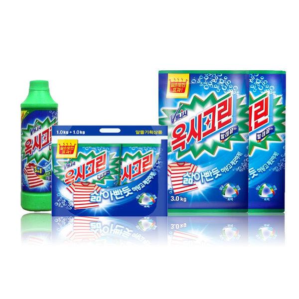 옥시크린3kg4개/표백제/유한젠/세제/살균/세탁/표백 상품이미지