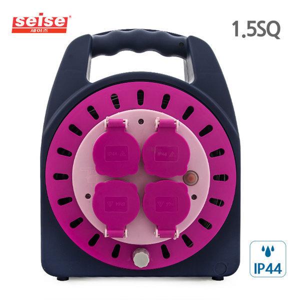 세이즈 전기릴선 20M 핑크 4구 방우방진 방호 캠핑 상품이미지
