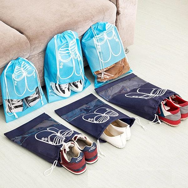 슈즈 부직포 신발주머니(대) 여행용파우치 신발가방 상품이미지