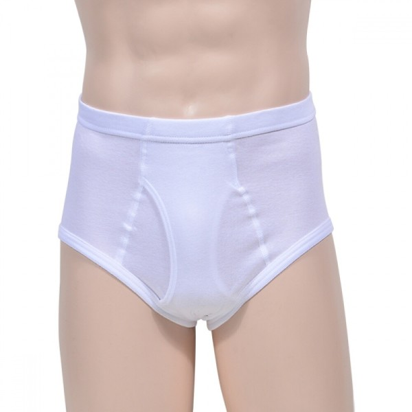 편안한 백색 순면 후라이스 남성 삼각팬티 (돈앤돈스) 상품이미지