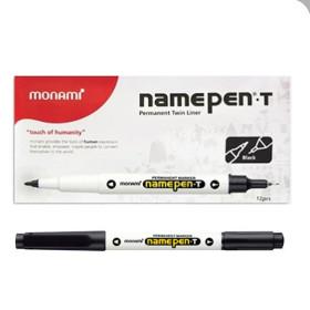 모나미 네임펜T 흑색 트윈형식 1타(12개입) 유성펜