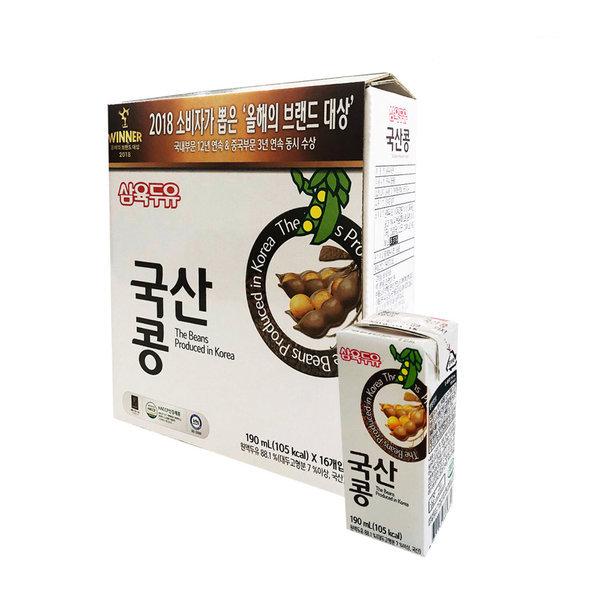 삼육 국산콩두유 190ml x 16팩 스마일배송 상품이미지